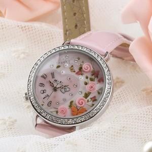 Đồng hồ nữ Mini Hàn Quốc dây da họa tiết 3D MI024-MI420