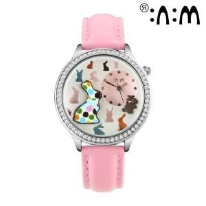 Đồng hồ nữ Mini Hàn Quốc họa tiết 3D MI059-MI420
