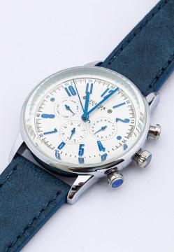 Đồng hồ nam Julius Hàn Quốc dây da 6 kim JU1203