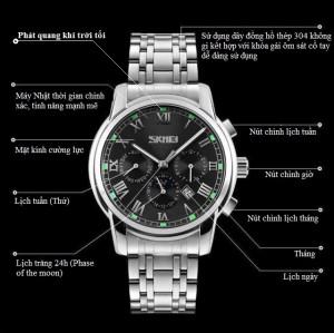 Đồng hồ nam Skmei phát quang phong cách doanh nhân SK105