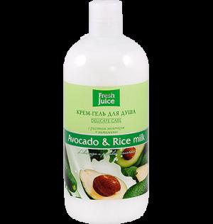 Gel tắm hương bơ và gạo, fresh juice, 500 ml-H118