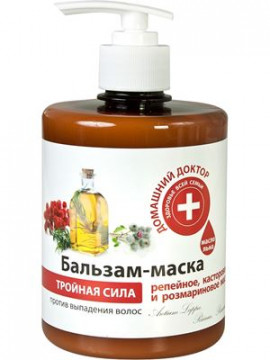 """""""Domashnij Doctor"""" Dầu xả 3 tác động chống rụng tóc, 500ml."""