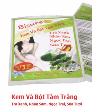 Kem & bột tắm trắng trà xanh, nhân sâm, ngọc trai, sữa tươi (VIP) BS-CS127-BS45