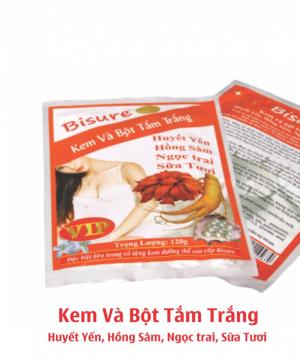 Kem & bột tắm trắng Huyết yến, Hồng sâm, Ngọc trai, Sữa tươi BS-CS126-BS45