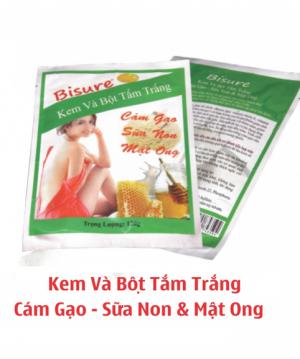 Kem & bột tắm trắng cám gạo, mật ong, sữa non BS-CS124(120g)-BS39